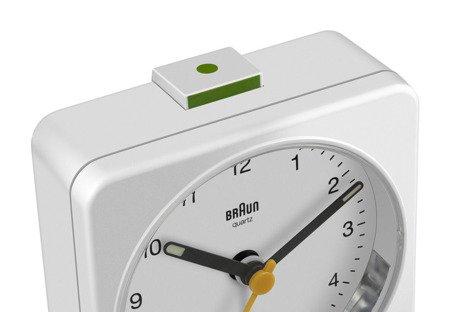 Budzik BRAUN alarm neobrite 8 cm BR BC03W