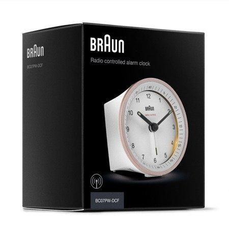 Budzik BRAUN sterowany RADIOWO podświetlenie drzemka 8 cm BC07PW-RC