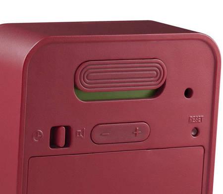 Budzik Braun elektroniczny czerwony mały BNC018R
