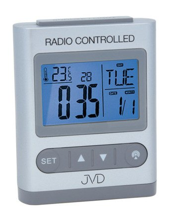 Budzik JVD STEROWANY RADIOWO 5 alarmów temp. RB31.1