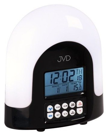 Budzik JVD STEROWANY RADIOWO RADIO TERMOMETR RB298.1