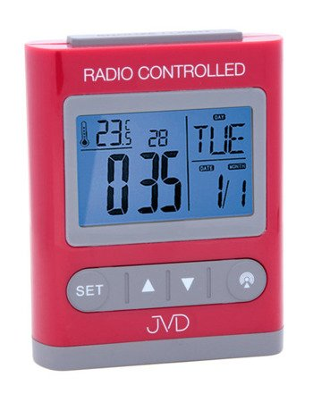 Budzik JVD STEROWANY RADIOWO TERMOMETR 5 alarmów RB31.2