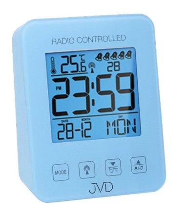 Budzik JVD STEROWANY RADIOWO TERMOMETR 5 alarmów RB38.3