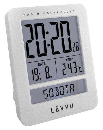 Budzik LAVVU STEROWANY RADIOWO 7x9cm LAR0020