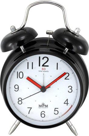 Budzik czarny metalowy głośny alarm C01.3093.9000