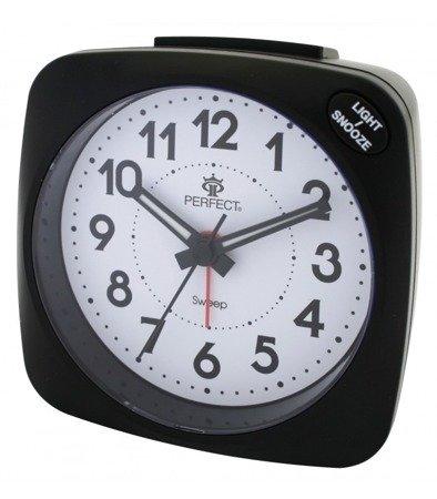 Budzik czarny podświetlenie alarm narastający  SR861SP Black