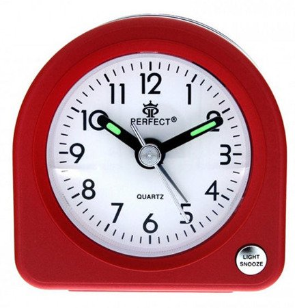Budzik czerwony podświetlenie alarm narastający mały PE A266 C2 Red