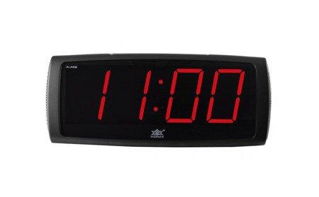 Budzik sieciowy drzemka 2 głośności alarmu duży Xonix 1819 Red