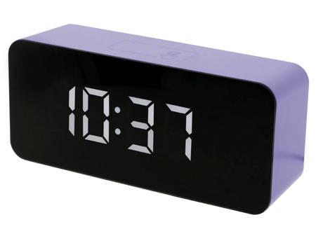 Budzik zegar SIECIOWY 3 alarmy niebieski SB6612.3