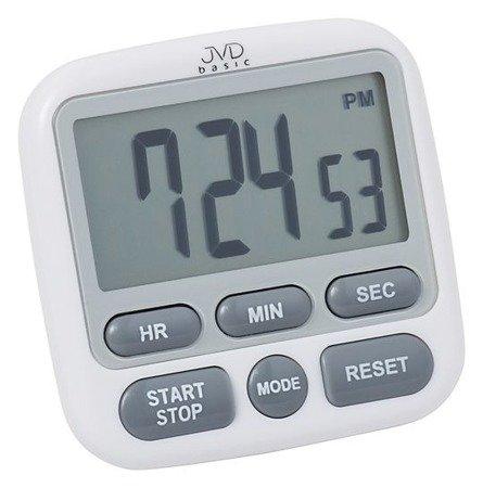 Minutnik JVD  2 timery, 2 stopnie głośności alarmu NOWOCZESNY  DM82