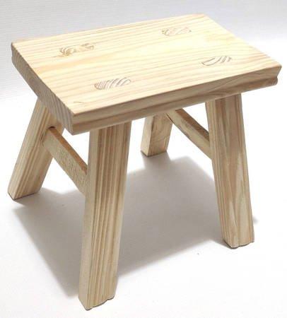 Taboret drewniany stojak stołek sosnowy 22 cm