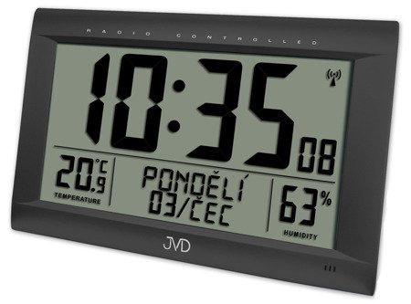ZEGAR BUDZIK JVD DUŻY ( 41 cm), sterowany radiowo termometr higrometr RB9075.1