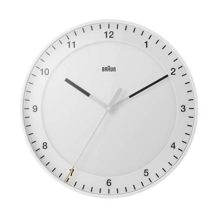Zegar Braun ścienny biały RADIOWY 30 cm BC17W-RC