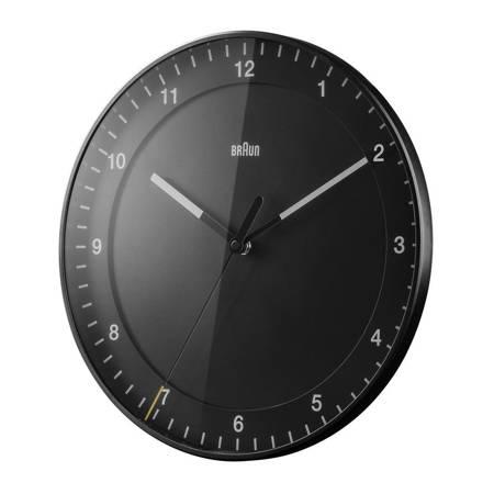 Zegar Braun ścienny czarny RADIOWY 30 cm BC17B-RC