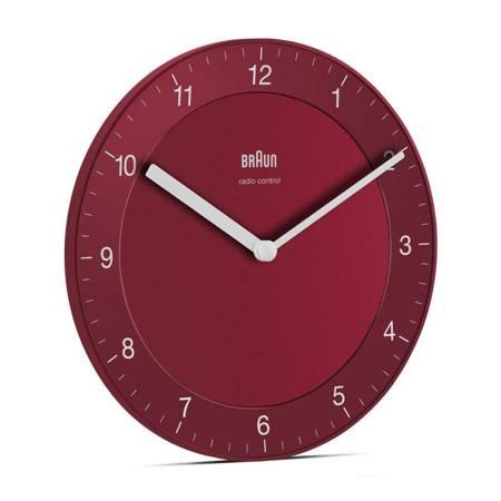 Zegar Braun ścienny czerwony RADIOWY BC06R-RC
