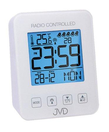 Zegar/Budzik JVD STEROWANY RADIOWO 5 alarmów temp. RB38.1