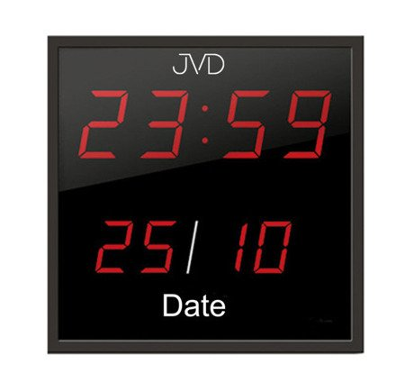 Zegar JVD 27x27 cm DUŻY sieciowy DH41