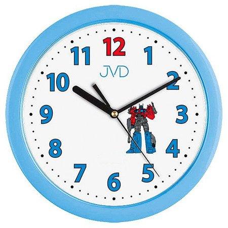 Zegar JVD dziecięcy 25 cm TRANSFORMERS niebieski H12.6