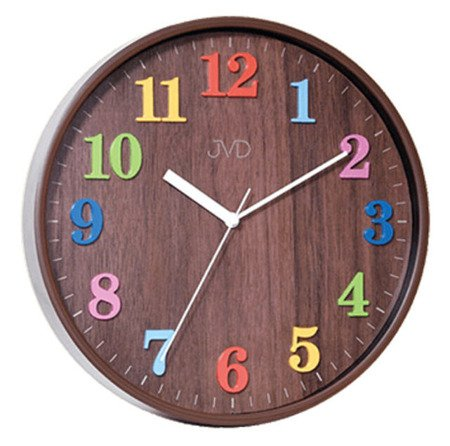 Zegar JVD ścienny 29,5 cm dziecięcy KOLOROWY HA49.2