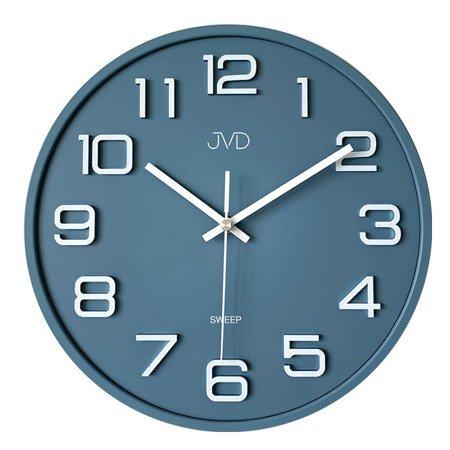 Zegar JVD ścienny 31 cm CICHY niebieski HX2472.4