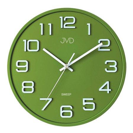 Zegar JVD ścienny 31 cm CICHY zielony HX2472.2