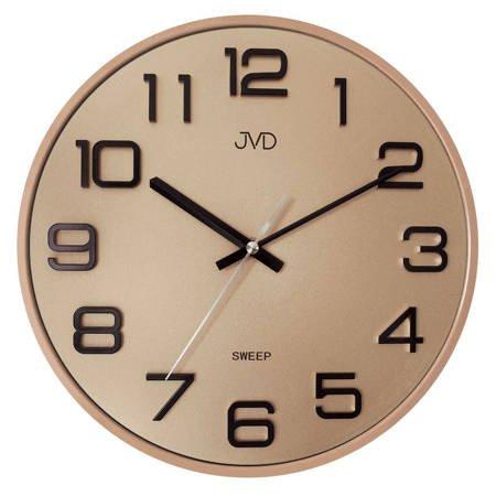 Zegar JVD ścienny 31 cm CICHY złoty HX2472.8