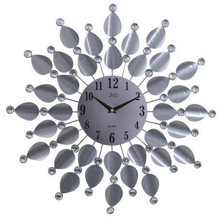 Zegar JVD ścienny 45 cm DESIGNERSKI kryształy stal HJ76.1