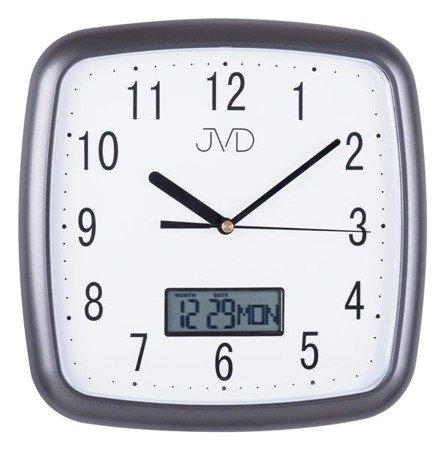 Zegar JVD ścienny CICHY DATOWNIK DH615.2