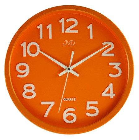 Zegar JVD ścienny CICHY czytelny HX2413.6