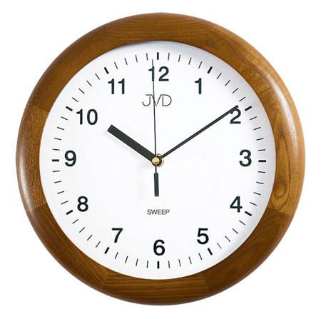 Zegar JVD ścienny CICHY drewniany dąb NS2341.11