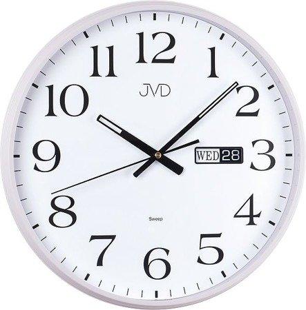 Zegar JVD ścienny DATOWNIK cichy 35 cm HP671.1