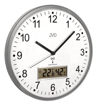 Zegar JVD ścienny DCF77 temp. wilgot. 30 cm RH78.1