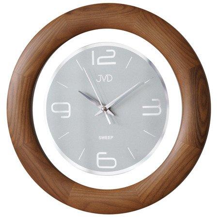 Zegar JVD ścienny DREWNIANY cichy 32 cm NS14065.11