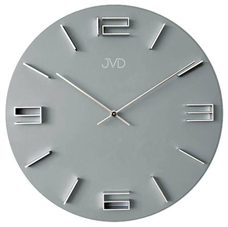 Zegar JVD ścienny DREWNIANY szary 30 cm HC32.2