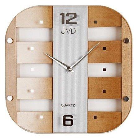 Zegar JVD ścienny DREWNO SZKŁO N29112.11