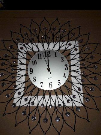 Zegar JVD ścienny DUŻY 61,5 cm KRYSZTAŁY HJ90-A3