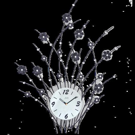 Zegar JVD ścienny DUŻY 73x56 cm  KWIATY DESIGNERSKI HJ83