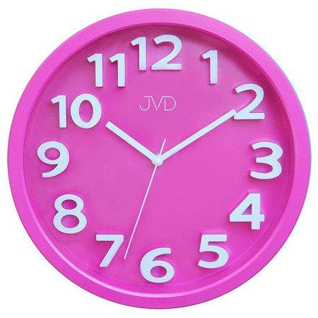 Zegar JVD ścienny DZIECIĘCY 33 cm CYFRY 3D CICHY nowoczesny HA48.5