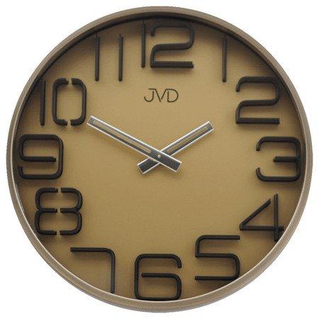 Zegar JVD ścienny METAL ZŁOTO nowoczesny HC18.4