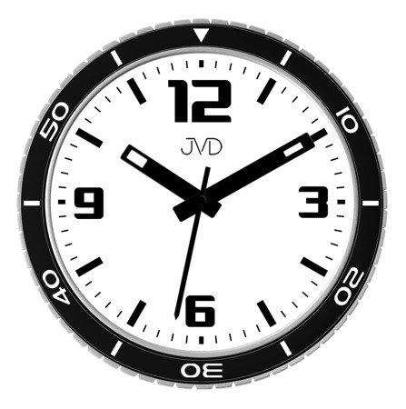 Zegar JVD ścienny NOWOCZESNY czarno-biały HO296.1