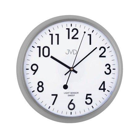 Zegar JVD ścienny SENSOR LIGHT płynący  HP698.4