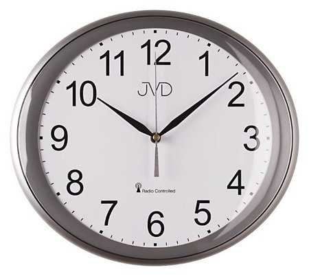 Zegar JVD ścienny STEROWANY RADIOWO 30 cm RH64.1