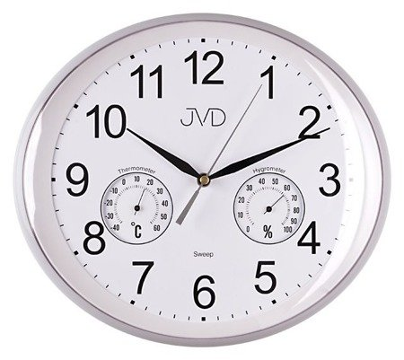 Zegar JVD ścienny TERMOMET higrometr cichy HTP64.1