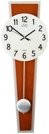 Zegar JVD ścienny WAHADŁO szkło drewno NS17020.41