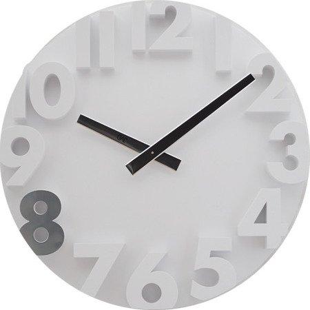 Zegar JVD ścienny biały nowoczesny 34 cm HC16.3
