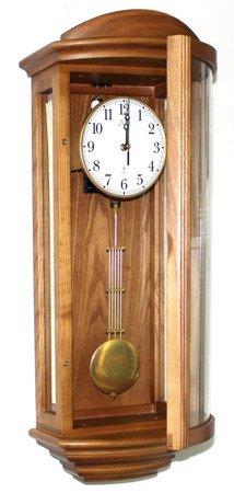 Zegar JVD ścienny drewniany DCF77 z kurantami NR2220.11