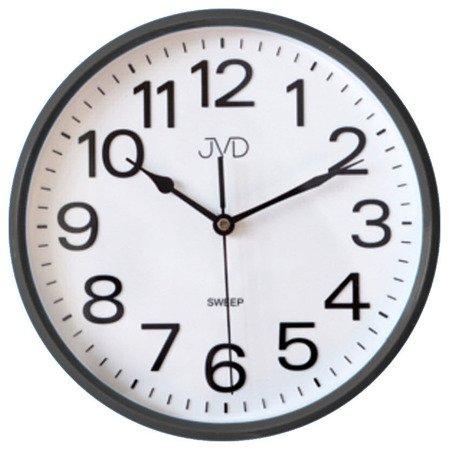 Zegar JVD ścienny klasyczny czarny CICHY 25 cm HP683.2