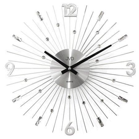 Zegar JVD ścienny kryształ srebrny 30 cm HT107.1