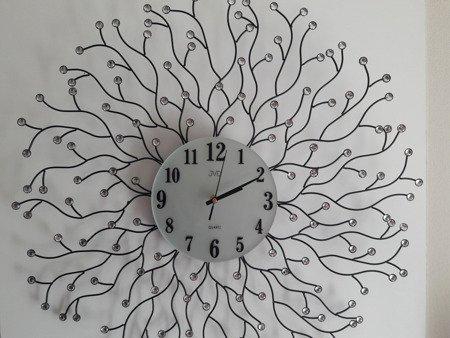 Zegar JVD ścienny kryształy DUŻY 69 cm HJ73-A1