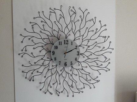 Zegar JVD ścienny kryształy DUŻY 69 cm HJ73-A2